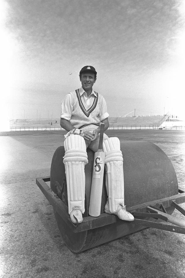 Jan 1977:  Geoff Boycott of England relaxes before the 3rd Test between England and Pakistan in Karachi.  Mandatory Credit: Adrian Murrell/Allsport UK