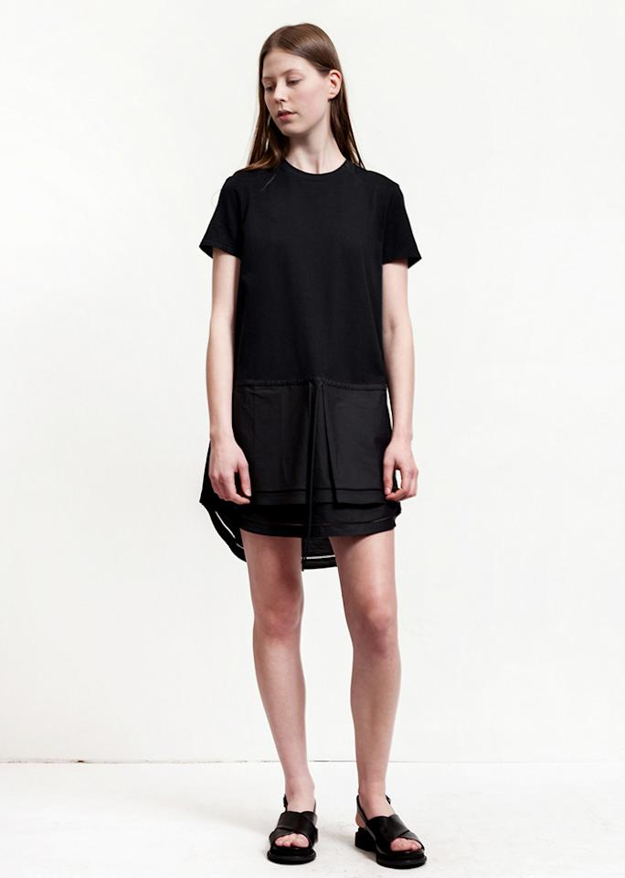 "Thakoon Jersey T-Shirt Dress, $306; at <a rel=""nofollow"" href=""https://www.garmentory.com/sale/thakoon-addition/dresses-lbd/79094-jersey-t-shirt-dress-black#sm.0000027cblhngqe59v234oqx8ntk7"">Garmentory</a>"
