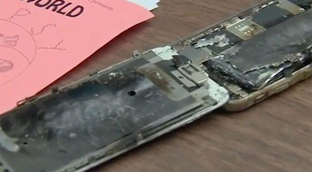 The owner of this iPhone 6 claims it exploded as he was holding it. Source: ABC7