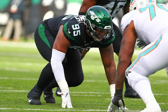 Quinnen Williams' offseason is not off to a roaring start. (Photo by Rich Graessle/Icon Sportswire via Getty Images)