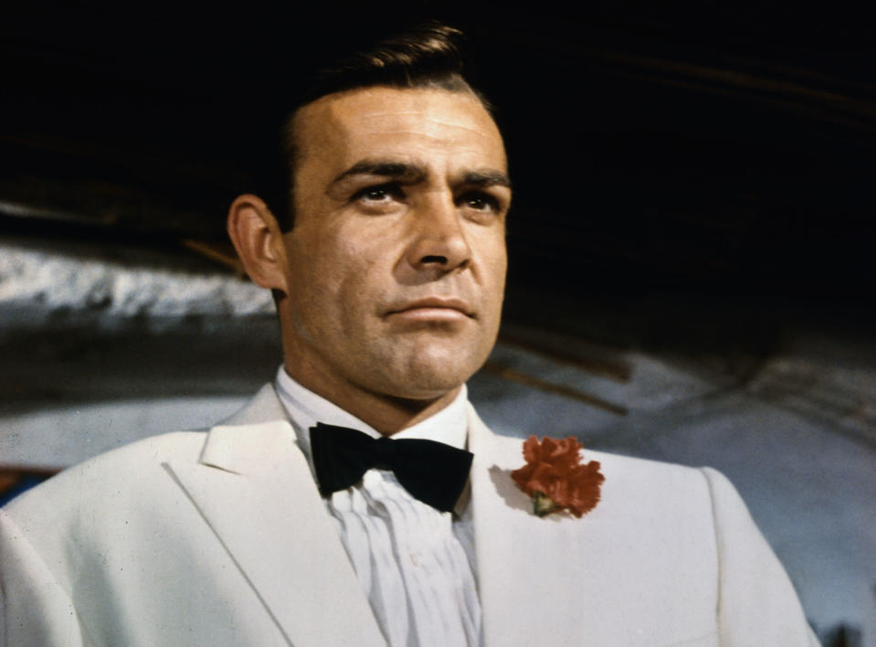 Sean Connery, pictured as secret agent James Bond in the film Goldfinger, has died. (Photo: Getty Images)