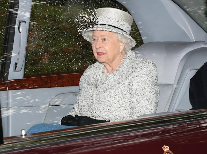 Queen Elizabeth II leaving Crathie Kirk after attending a Sunday church service near Balmoral where she is currently in residence. (Photo by Andrew Milligan/PA Images via Getty Images)