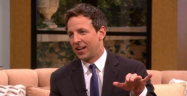 Seth Meyers stops by Access Hollywood Live on Janurary 21, 2014 -- Access Hollywood