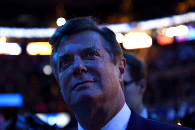 Trump campaign manager Paul Manafort at the Republican National Convention in Cleveland on July 21, 2016. In many ways, his indebtedness to Russia paralleled Trump's. (The Washington Post / Getty Images)