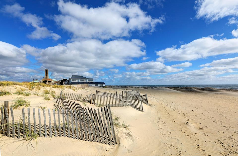 """Asbury Park—so hot right now. Pack a playlist full of Springsteen and take NJ Transit (with a changeover at Long Branch) 111 minutes to Asbury, home of a revitalized boardwalk, classic rock at the Stone Pony, a growing foodie scene, and the brand-new <a href=""""http://www.theasburyhotel.com/eat-and-drink"""" rel=""""nofollow noopener"""" target=""""_blank"""" data-ylk=""""slk:Asbury Hotel"""" class=""""link rapid-noclick-resp"""">Asbury Hotel</a> with its very buzzy rooftop bar (locals love it). If you arrive later in the day, bring your pup to <a href=""""http://www.wonderbarasburypark.com/yappyhour.html"""" rel=""""nofollow noopener"""" target=""""_blank"""" data-ylk=""""slk:Wonder Bar's Yappy Hour"""" class=""""link rapid-noclick-resp"""">Wonder Bar's Yappy Hour</a>, where dogs can go off-leash while you enjoy a cocktail."""