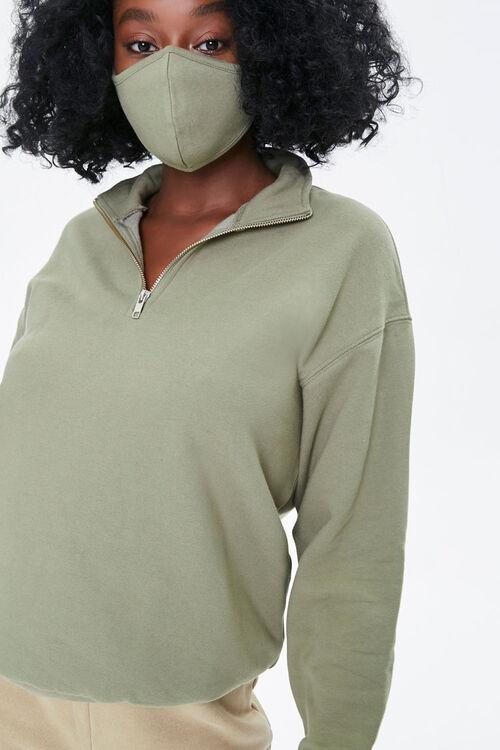 Half-Zip Pullover & Face Mask Set