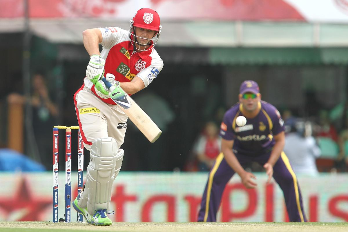 Kings XI Punjab captain Adam Gilchrist plays straight during match 20 of the Pepsi Indian Premier League between The Kings XI Punjab and the Kolkata Knight Riders held at the PCA Stadium, Mohal, India  on the 16th April 2013..Photo by Shaun Roy-IPL-SPORTZPICS  ..Use of this image is subject to the terms and conditions as outlined by the BCCI. These terms can be found by following this link:..https://ec.yimg.com/ec?url=http%3a%2f%2fwww.sportzpics.co.za%2fimage%2fI0000SoRagM2cIEc&t=1506093953&sig=h_rdeEHEqpaNGkFVoIpjmg--~D