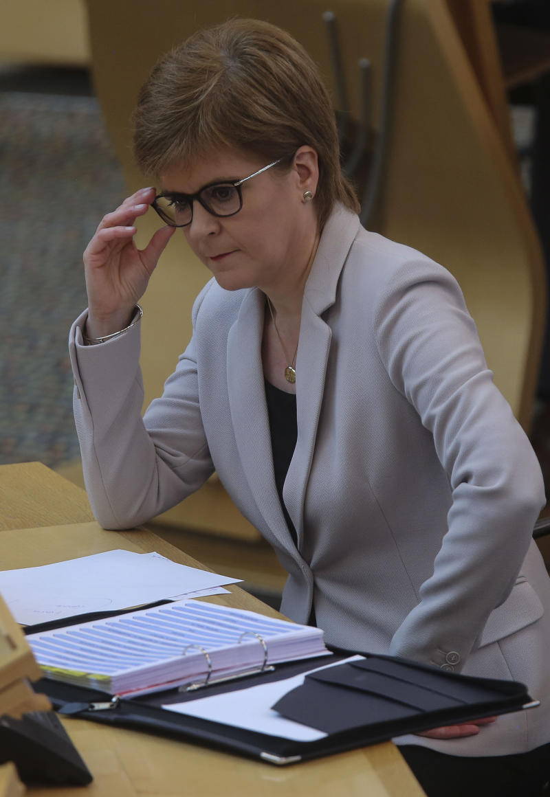 First Minister Nicola Sturgeon said the second phase of easing Scotland's lockdown restrictions will come into effect from Friday and Monday. (PA)