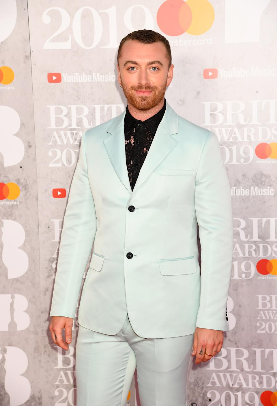Sam Smith attends The BRIT Awards 2019 held at The O2 Arena on February 20, 2019 in London, England. (Photo by Dave J Hogan/Getty Images)