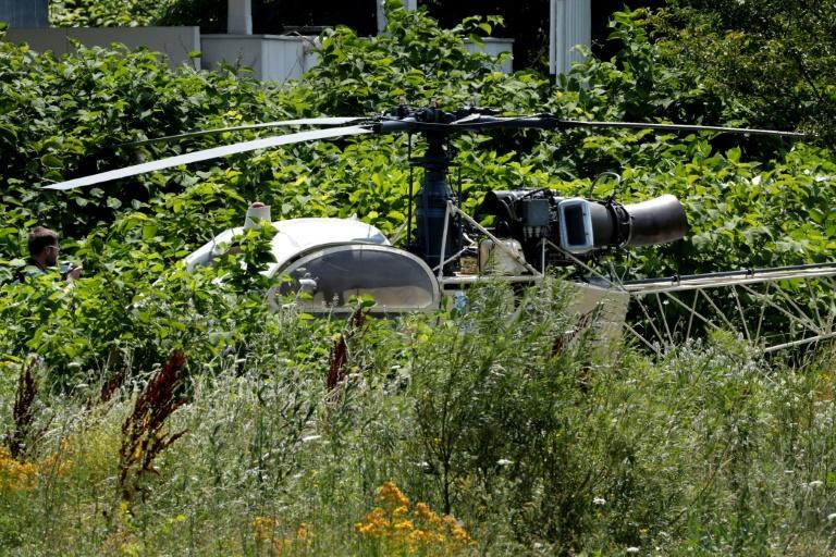 The helicopter used in the escape was found shortly afterwards in a suburb northeast of Paris