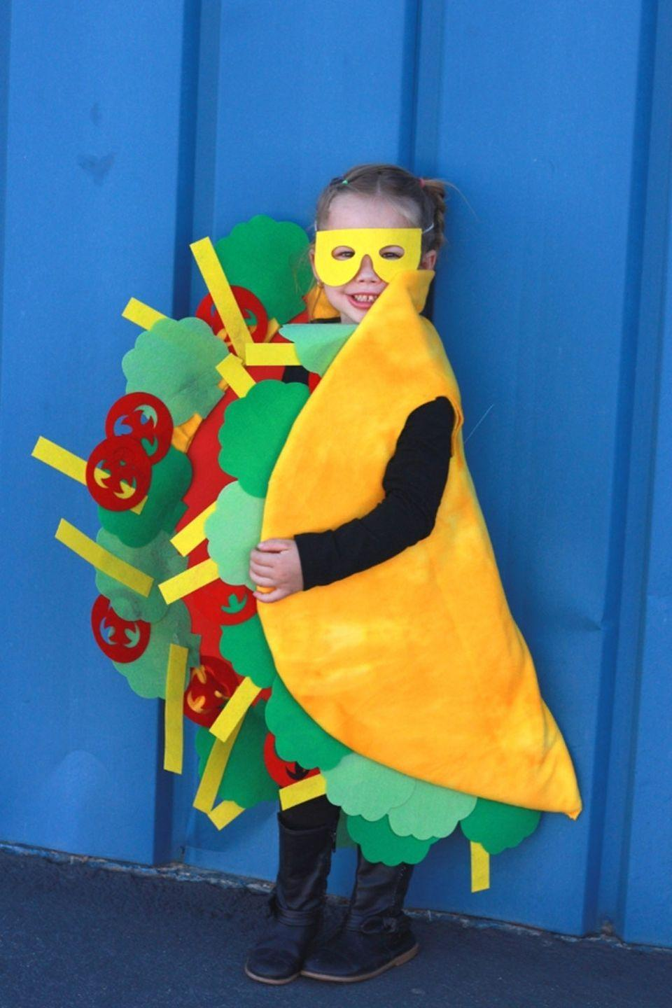 "<p>This tiny taco is just <a href=""http://www.everydayjenny.com/diy-taco-and-hot-sauce-family-costumes-with-the-cricut-maker/"" rel=""nofollow noopener"" target=""_blank"" data-ylk=""slk:too cute to eat"" class=""link rapid-noclick-resp"">too cute to eat</a>!</p><p><strong>RELATED: </strong><a href=""https://www.goodhousekeeping.com/holidays/halloween-ideas/g1709/homemade-halloween-costumes/"" rel=""nofollow noopener"" target=""_blank"" data-ylk=""slk:56 Easy Homemade Halloween Costumes for Adults, Kids, and Everyone in Between"" class=""link rapid-noclick-resp"">56 Easy Homemade Halloween Costumes for Adults, Kids, and Everyone in Between</a></p>"
