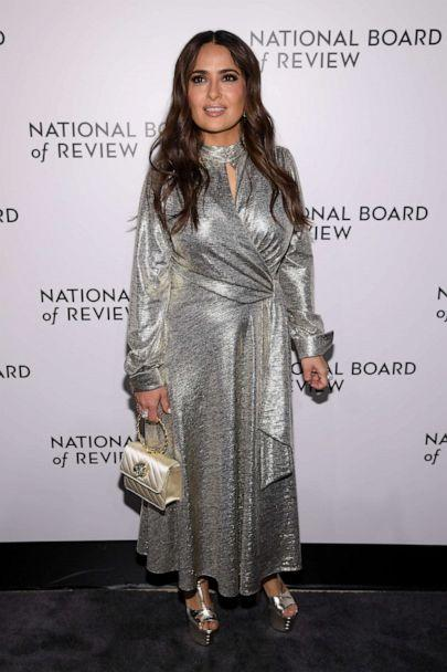 PHOTO: Salma Hayek attends The National Board of Review Annual Awards Gala at Cipriani 42nd Street, Jan. 8, 2020 in New York City. (Dimitrios Kambouris/Getty Images)