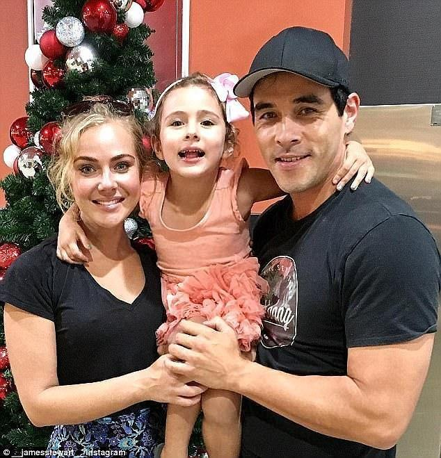 Scout is James's five-year-old daughter from his previous relationship with Jessica Marais. Photo: Instagram/James Stewart