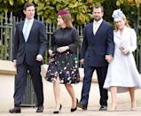 <p>The couple joined members of the royal family during their Easter church outing in 2018.</p>