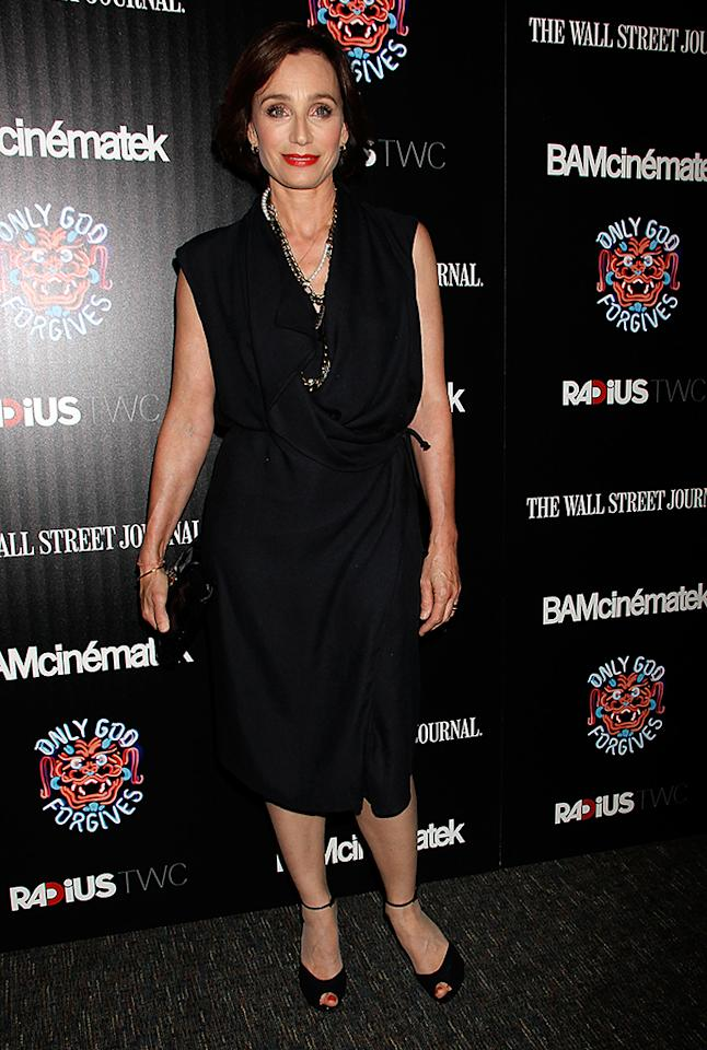 """NEW YORK, NY - JULY 16:  Kristin Scott Thomas attends """"Only God Forgives"""" New York Premiere at BAM Harvey Theater on July 16, 2013 in New York City.  (Photo by Laura Cavanaugh/Getty Images)"""