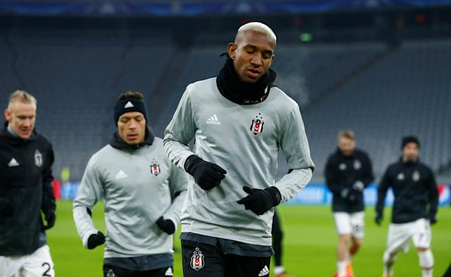 Soccer Football - Champions League - Besiktas Training - Allianz Arena, Munich, Germany - February 19, 2018 Besiktas' Anderson Talisca during training REUTERS/Ralph Orlowski