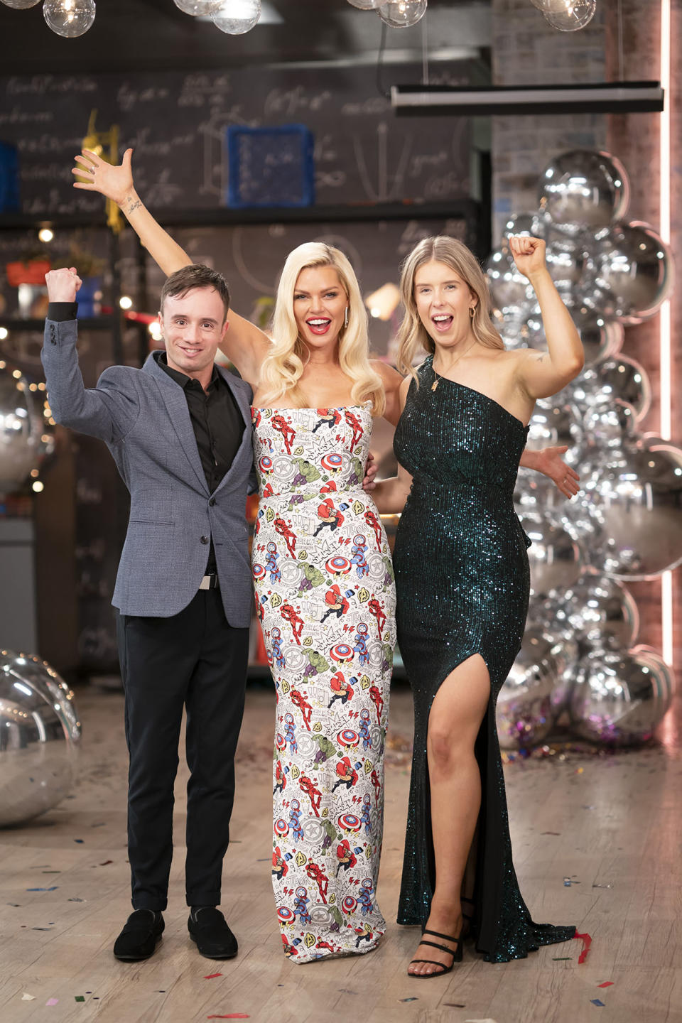 Lachlan Mansell, Sophie Monk and Kiera Johnstone