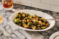 """Roasted Brussels sprouts are always pretty good, but the added pancetta here really makes a difference. <a href=""""https://www.epicurious.com/recipes/food/views/roasted-brussels-sprouts-with-garlic-and-pancetta-104566?mbid=synd_yahoo_rss"""" rel=""""nofollow noopener"""" target=""""_blank"""" data-ylk=""""slk:See recipe."""" class=""""link rapid-noclick-resp"""">See recipe.</a>"""