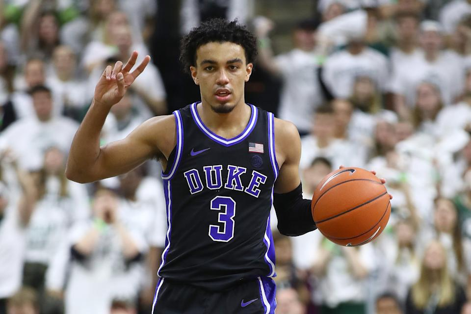Tre Jones missed his second straight game on Saturday due to a sprain in his left foot.