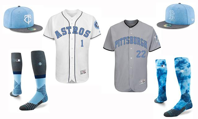 Jerseys, caps and socks for Father's Day. (MLB)