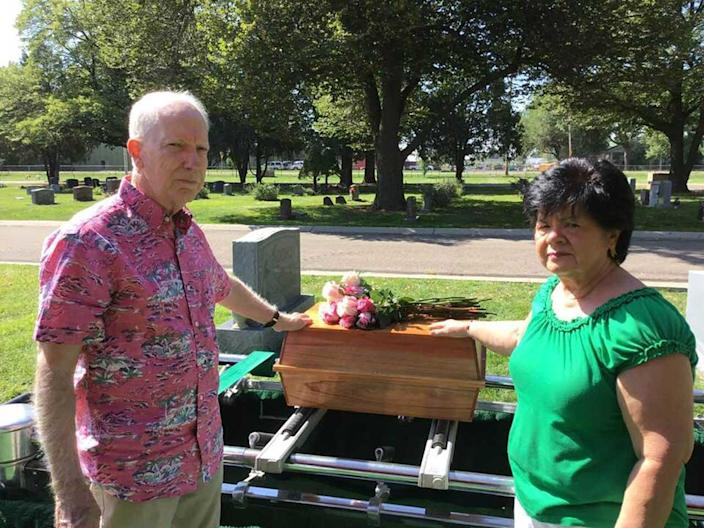 Jonelle Matthews was laid to rest nearly 35 years after her disappearance. / Credit: Jim and Gloria Matthews