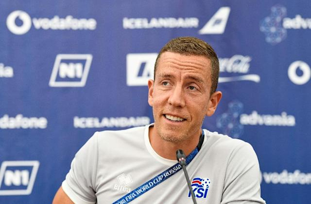 Iceland goalkeeper Hannes Halldorsson combines national duty with film-making (AFP Photo/Jonathan NACKSTRAND)