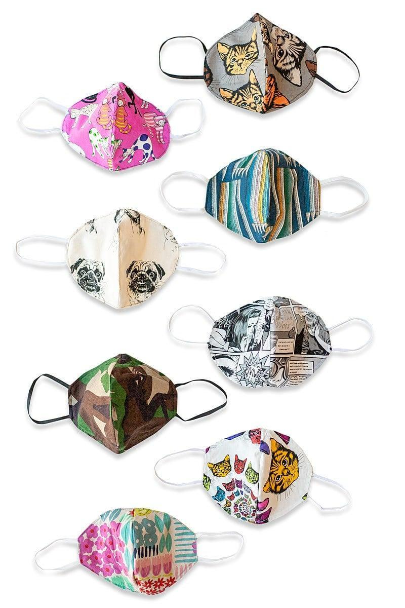 <p>Made with leftover scraps from the studio, the <span>Matrushka Surprise Pattern Face Covering</span> ($13 each) come in cute and funky prints and have three layers of fabric. Each mask features an adjustable nose bridge to ensure a more accurate fit for the user, and for every purchase, Matrushka will donate masks to hospital employees, park rangers, and other essential service workers.</p>