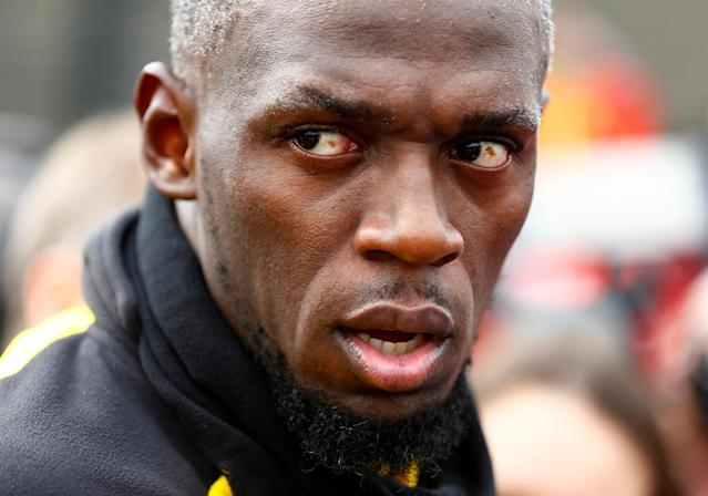 Soccer Football - Usain Bolt participates in a training session with Borussia Dortmund - Strobelallee Training Centre, Dortmund, Germany - March 23, 2018 Usain Bolt after Borussia Dortmund training REUTERS/Thilo Schmuelgen