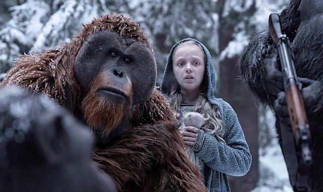 "<p>Matt Reeves's final installment of the rebooted <i>Planet of the Apes</i> trilogy is a superior piece of genre filmmaking, presenting a grim — and politically incisive — take on the battle between humanity and its upstart simian counterparts. And if you haven't seen the series' first two chapters? Now's the time to catch up on the stirring saga of would-be ape king Caesar, who's brought to life by Andy Serkis via stellar motion-capture performances. <em>— N.S.</em><br><br><i>Available to rent: <a href=""https://www.youtube.com/watch?v=UEP1Mk6Un98"" rel=""nofollow noopener"" target=""_blank"" data-ylk=""slk:Amazon, iTunes, Google Play, Vudu, FandangoNOW"" class=""link rapid-noclick-resp"">Amazon, iTunes, Google Play, Vudu, FandangoNOW</a></i><br><br>(Photo: 20th Century Fox) </p>"