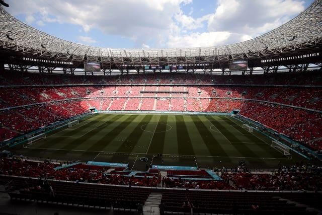 England will be playing at the Puskas Arena on Thursday (PA)