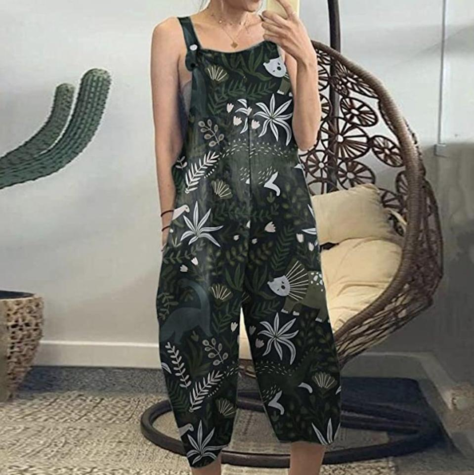 <p>Not only does this <span>Cbcbtwo Sleeveless Overalls</span> ($17) make for a comfy everyday look, but we're excited to pack it for our next vacation. The tropical print will get you tons of attention and compliments.</p>