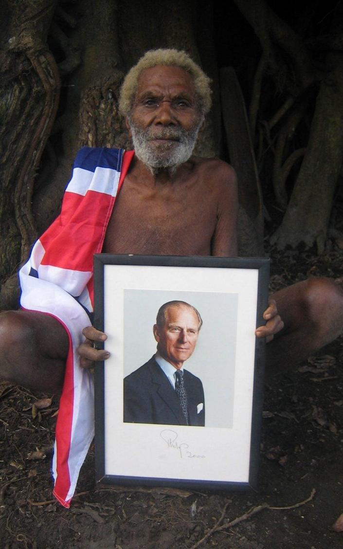 For decades the tribe on the island of Tanna worshiped Prince Philip as a living deity - Nick Squires