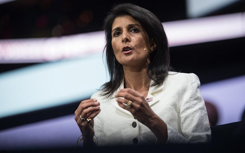 US Ambassador to the United Nations Nikki Haley - Credit: NICHOLAS KAMM/AFP