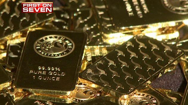 Seven News reveals counterfeit gold bars being sold at a Chinese factory.