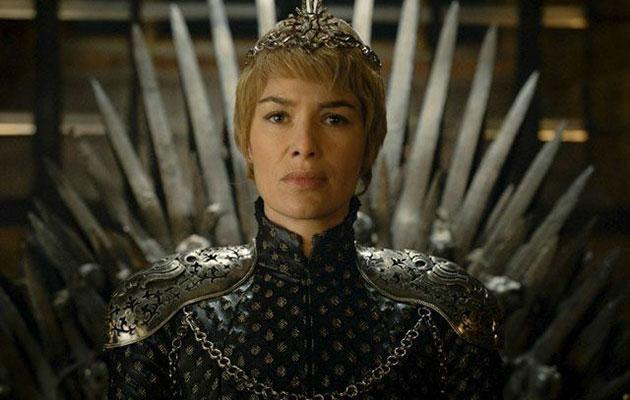 Cersei Lannister, played by Lena Headey, sits upon the Iron Throne in season six. Source: HBO