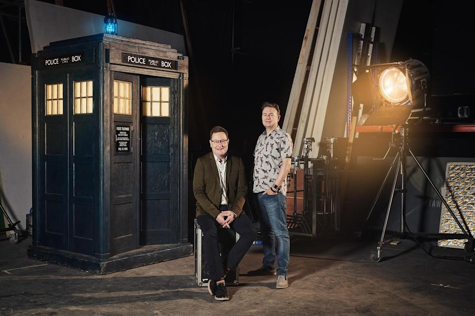 Chris Chibnall (showrunner) and Matt Strevens (executive producer) <i>Doctor Who</i> (Ben Blackall/BBC/BBC Studios)
