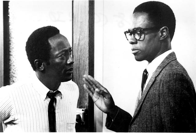 Turman (right, opposite Garrett Morris) gained notice for playing Preach in the 1975 classic <em>Cooley High</em>. (Photo: Everett Collection)