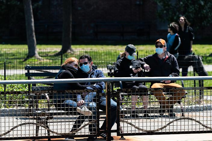 Image: Coronavirus Pandemic Causes Climate Of Anxiety And Changing Routines In America (Jeenah Moon / Getty Images)