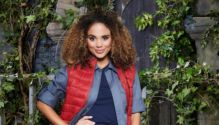 There was a rat under soap actor Jessica Plummer's bed in the I'm A Celeb camp. (ITV)
