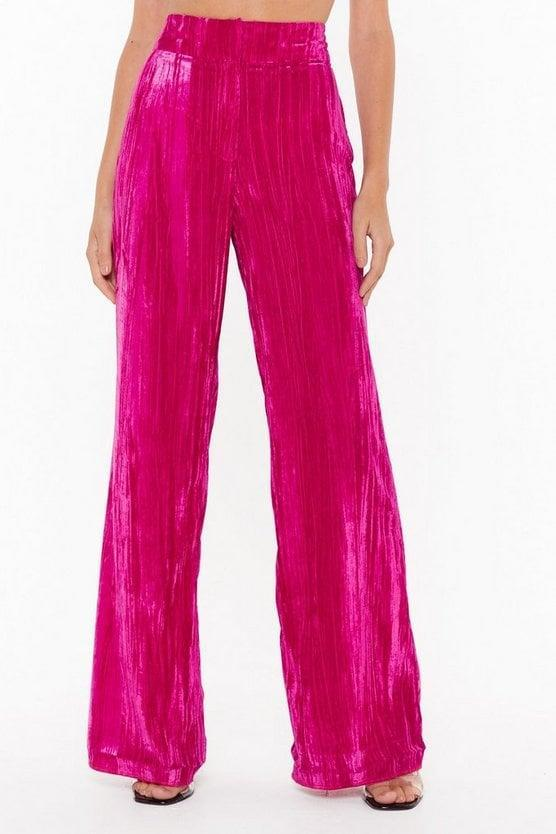 <p><span>Nasty Gal You're Losing Your Touch Wide-Leg Velvet Pants</span> ($49, originally $98)</p>