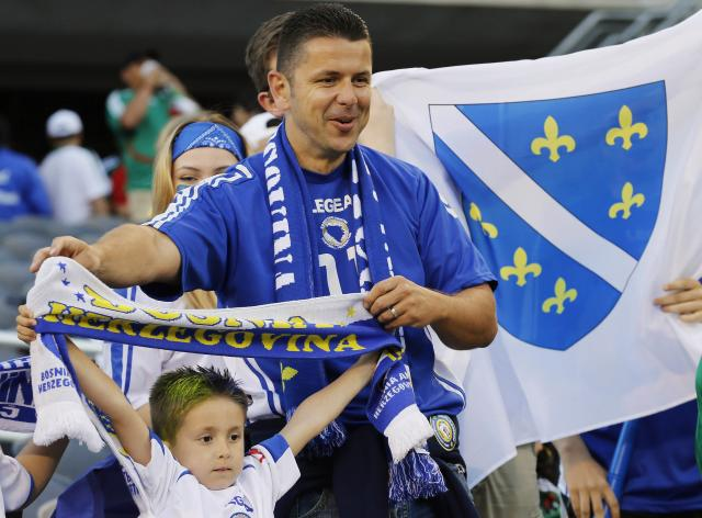 Fans cheer before an international friendly soccer match between Mexico and Bosnia and Herzegovina in Chicago