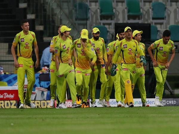 CSK players taking field during clash against Rajasthan Royals on Monday. (Photo/ iplt20.com)