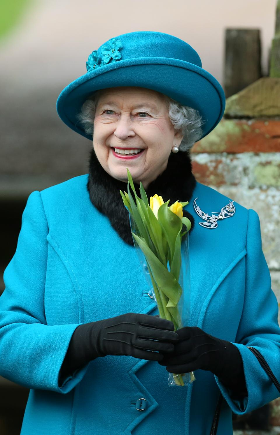 Queen Elizabeth II attends St Mary Magdalene Church, on the royal estate in Sandringham, Norfolk for the traditional Christmas Day church service.   (Photo by Chris Radburn/PA Images via Getty Images)