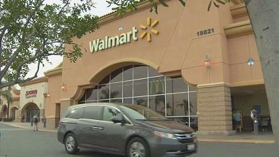 Wal-Mart's e-commerce sales grew an impressive 60 percent in the latest period, boosted by food purchases.