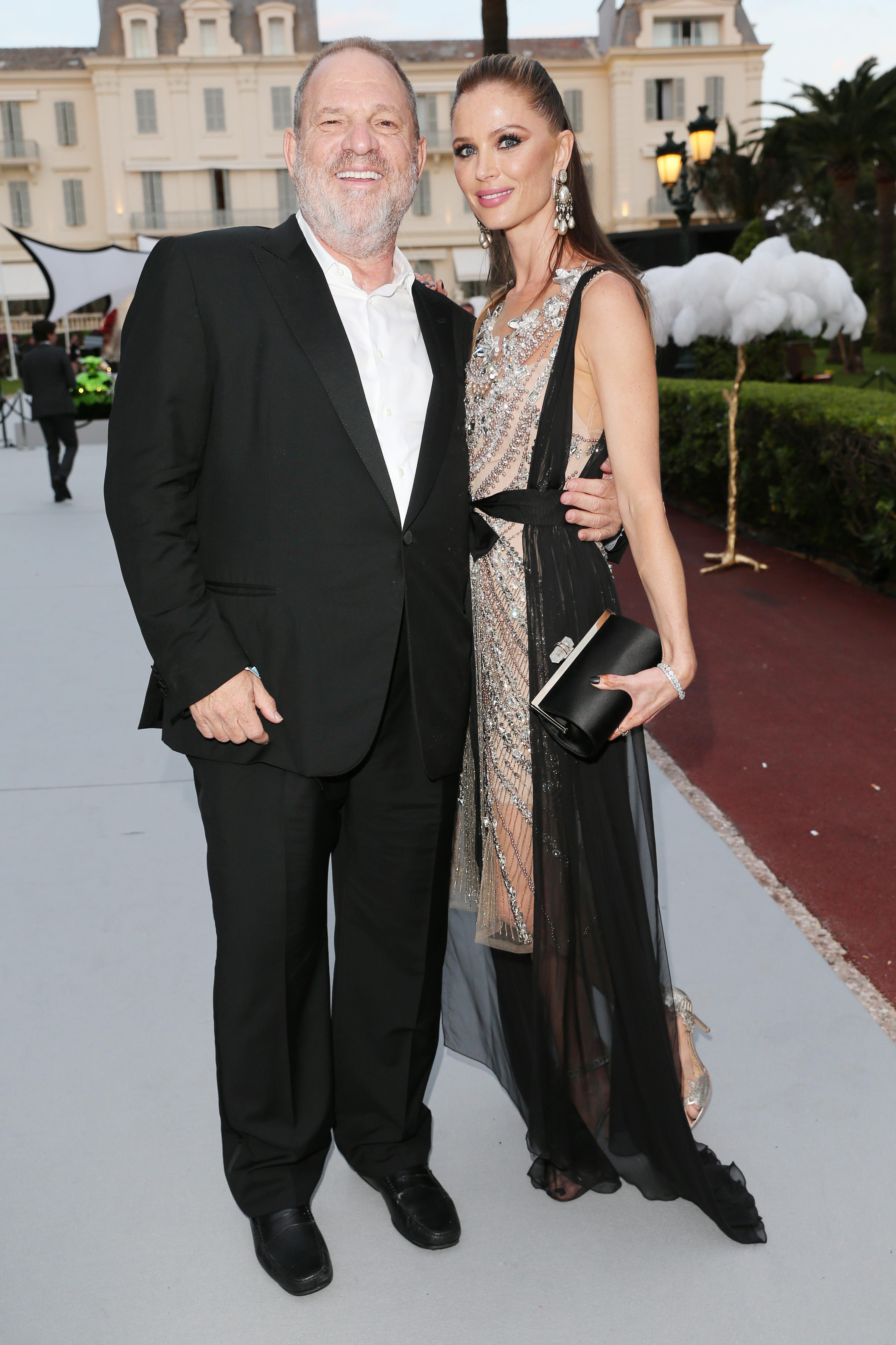 4f28fdb8d1 Harvey Weinstein and Georgina Chapman attend the Cannes Film Festival in  May. (Photo: Gisela Schober/Getty Images)