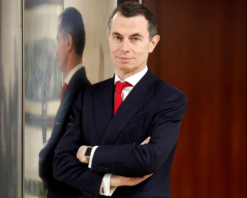 Unicredit bank CEO Mustier poses during the shareholders meeting in Rome