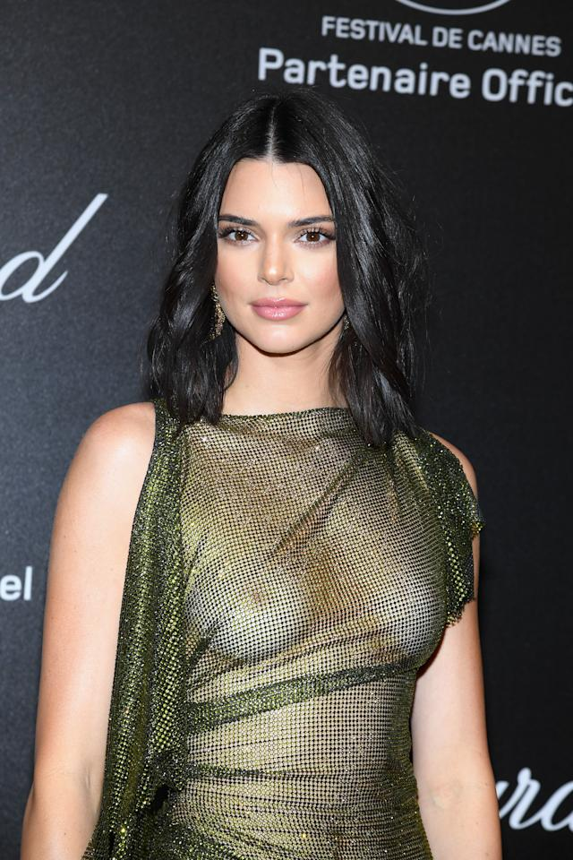 Kendall Jenner wears a see-through dress to the Cannes Film Festival. Source: Getty