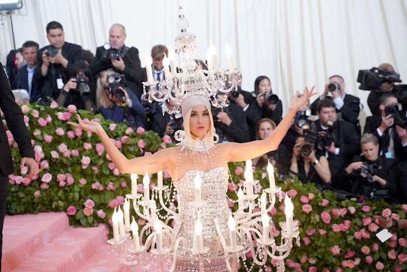 Katy Perry's Met Gala outfit in 2019. (Getty Images)