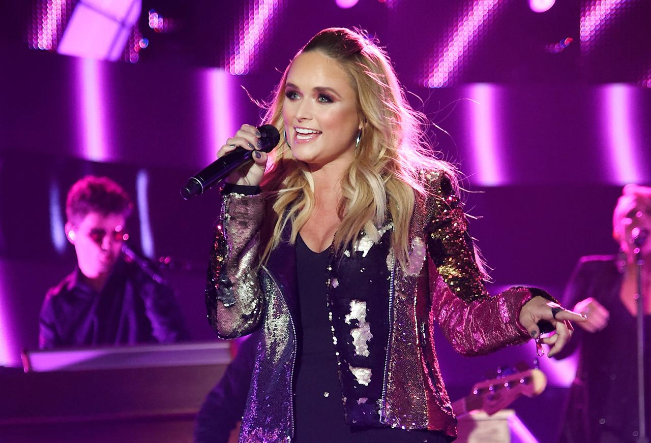 <p>Miranda Lambert performs onstage during the 2017 CMT Music Awards at the Music City Center on June 7, 2017 in Nashville, Tennessee. (Photo by Kevin Mazur/WireImage) </p>