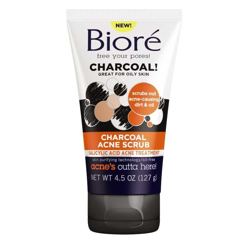"""<p><a rel=""""nofollow"""" href=""""http://www.brides.com/story/quick-fixes-for-pre-wedding-pimple-breakout?mbid=synd_yahoobeauty"""">Breakouts</a> be gone! A blemish-busting dream team of charcoal and salicylic acid gently exfoliate, decongest pores and banish acne-causing bacteria. <em>(Charcoal acne scrub, $7.49, Bioré available at <a rel=""""nofollow"""" href=""""http://www.ulta.com/baking-soda-acne-scrub?mbid=synd_yahoobeauty&productId=xlsImpprod15321243"""">Ulta</a>)</em></p>"""